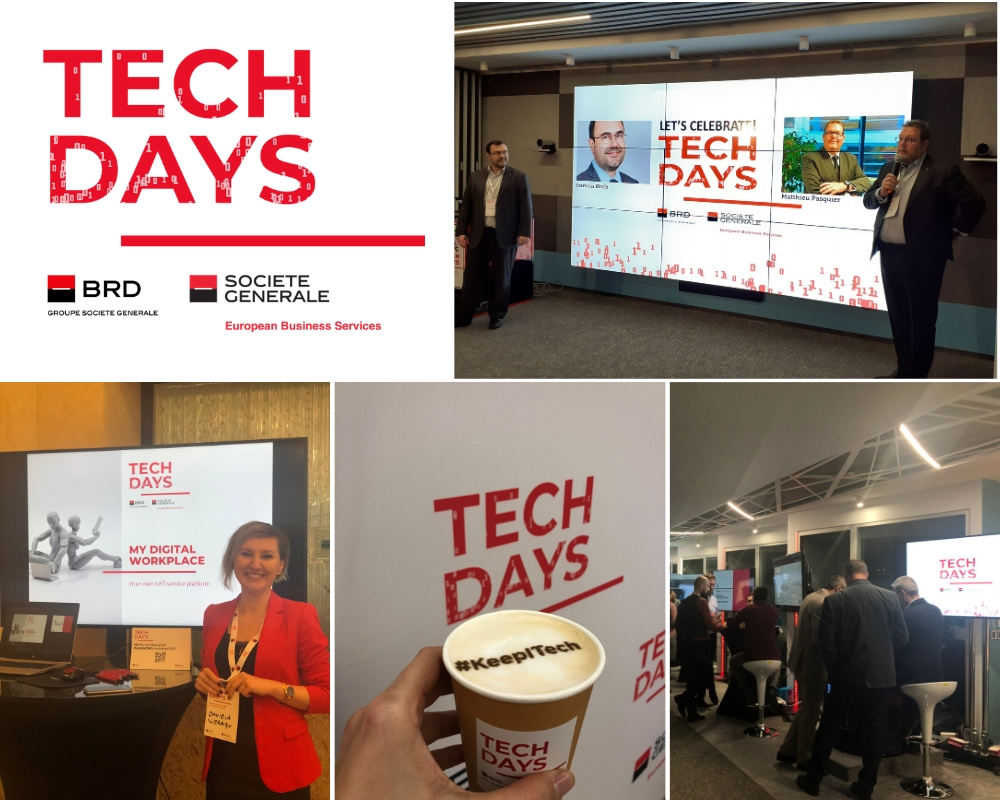 Prima editie Tech Days organizata de  BRD Groupe Societe Generale & Societe Generale  European Business Services